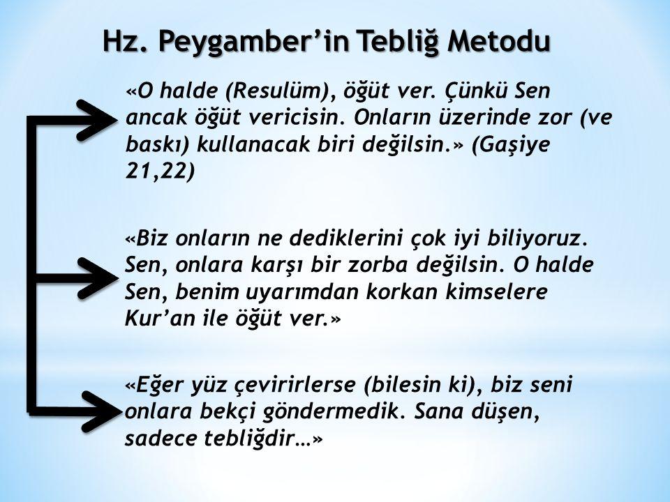 Hz. Muhammed'in Tebliğ ve Tebyin Görevi TEBLİĞ Sözlükte: Taşımak, götürmek, ulaştırmak Terim anlamı: Peygamberlerin Allah'tan aldığı vahiyleri insanla