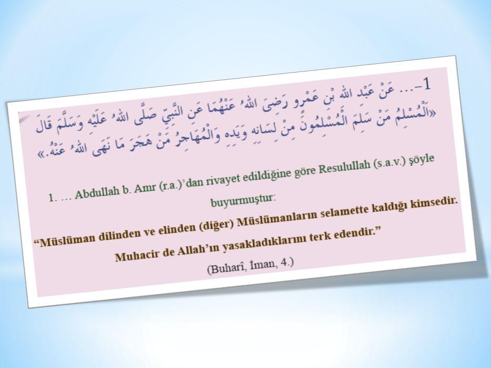 1 2 3 4 5 Hz. Peygamber Kur'an'ı yaşamıştır. Kur'an'ı O'nsuz anlayıp yaşamamız mümkün değildir. Kur'an'da Hz. Peygamber'e itaat emredilmiştir. Hz. Pey