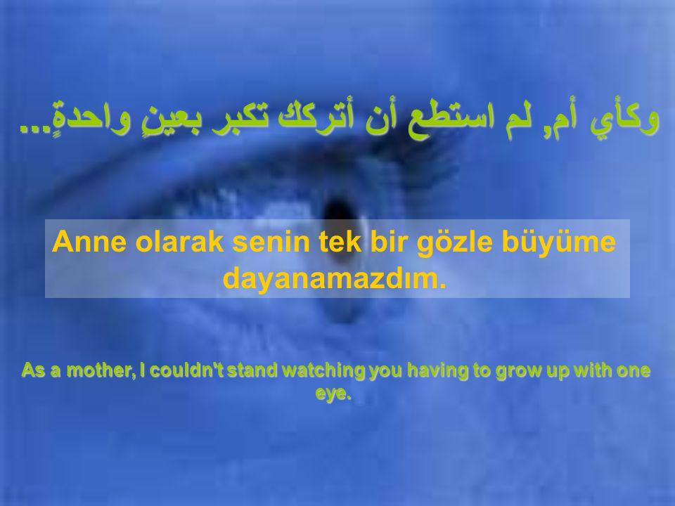 هل تعلم...لقد تعرضتَ لحادثٍ عندما كنت صغيراً وقد فقدتَ عينك.
