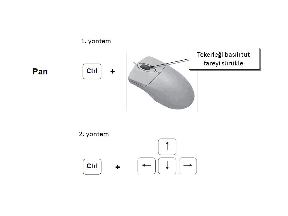 Tekerleği basılı tut fareyi sürükle 1. yöntem 2. yöntem