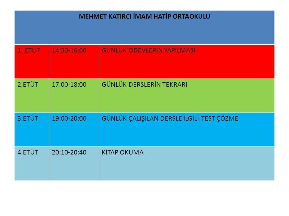 MEHMET KATIRCI İMAM HATİP ORTAOKULU 1.
