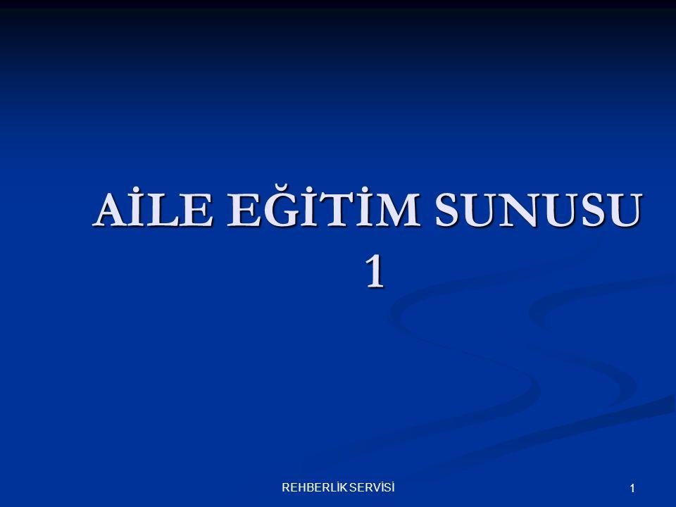 REHBERLİK SERVİSİ 1 AİLE EĞİTİM SUNUSU 1