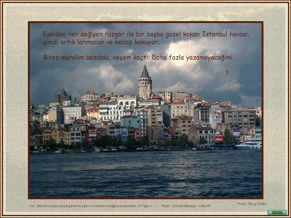 Ada ya gitmek, Çamlica ya çıkmak, Moda veya Fenerbahçe de yürüyüş yapmak,Beykoz Çayırı nda eğlenmek, pazar sabahları Taksim den Taşlık a yürümek hep birer zevk idi.