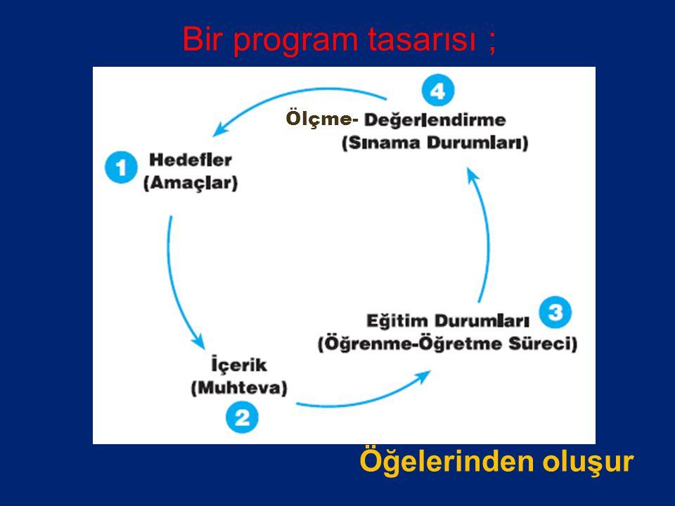 PROGRAM TASARISI HAZIRLAMA VE HEDEFLERİN BELİRLENMESİ - YAZIMI