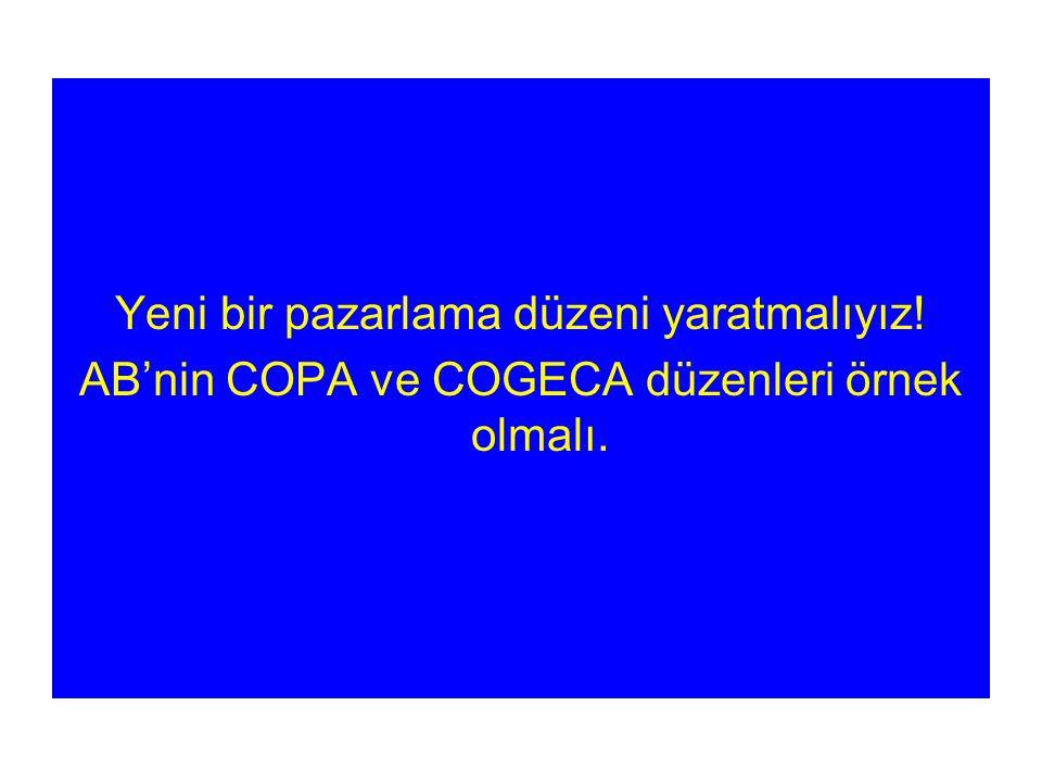 Yeni bir pazarlama düzeni yaratmalıyız! AB'nin COPA ve COGECA düzenleri örnek olmalı.