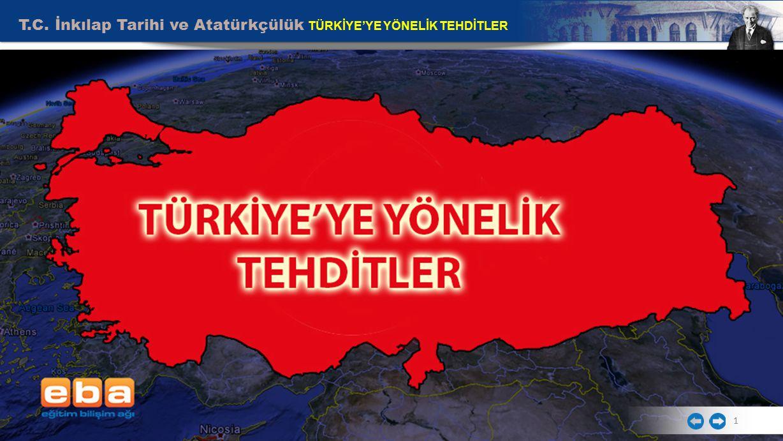 T.C. İnkılap Tarihi ve Atatürkçülük TÜRKİYE'YE YÖNELİK TEHDİTLER 1