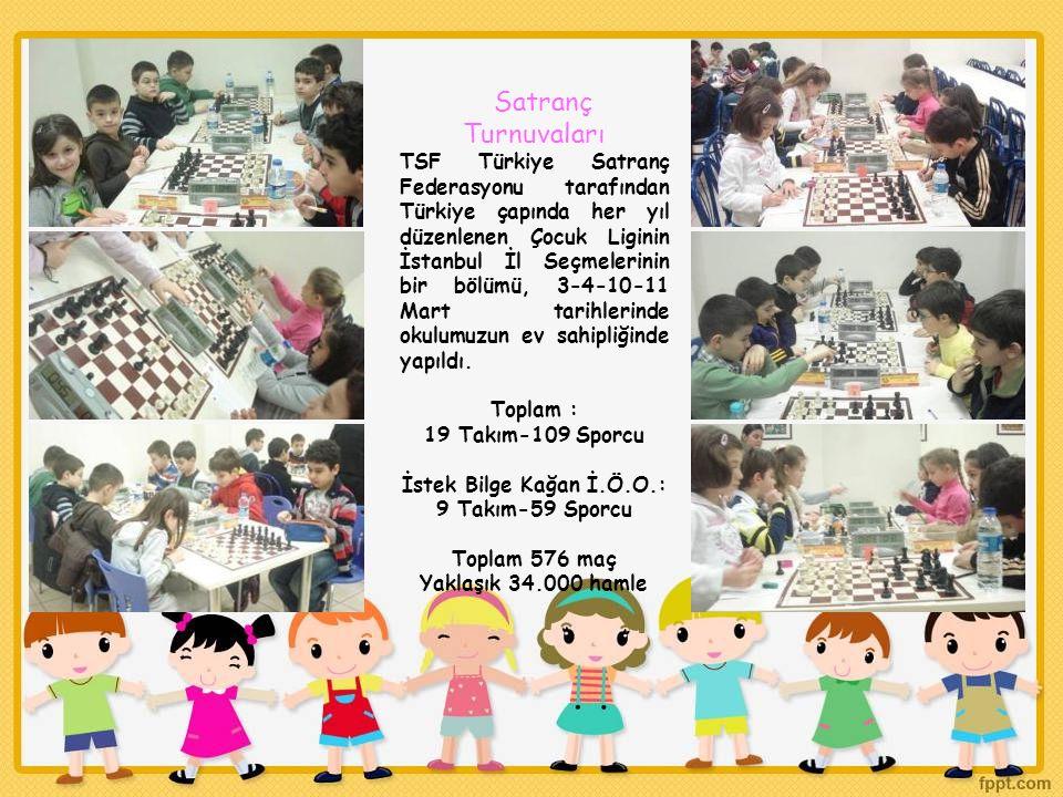 Satranç Turnuvaları TSF Türkiye Satranç Federasyonu tarafından Türkiye çapında her yıl düzenlenen Çocuk Liginin İstanbul İl Seçmelerinin bir bölümü, 3