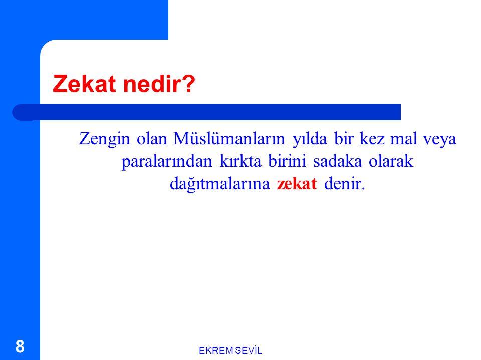 EKREM SEVİL 18 Hz. Muhammed buyurdu ki: ...veren el alan elden hayırlıdır.
