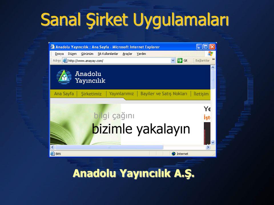 Anadolu Yayıncılık A.Ş. Sanal Şirket Uygulamaları