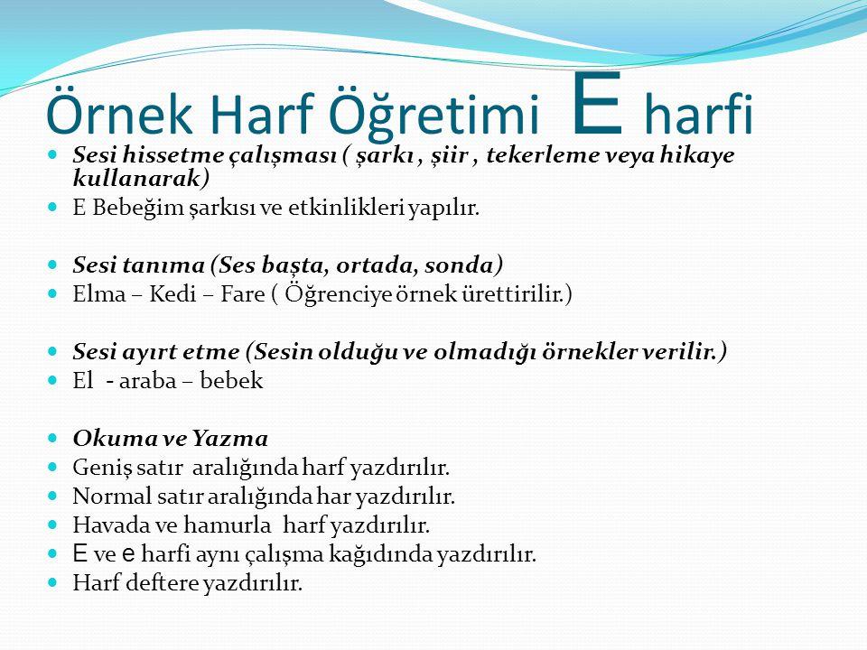 Harf Öğretimi Harf Öğretiminde belirlenen gruplar vardır.