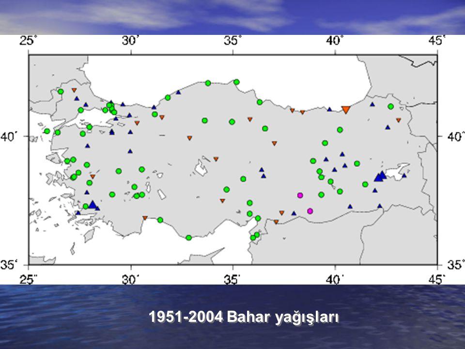 1951-2004 Bahar yağışları