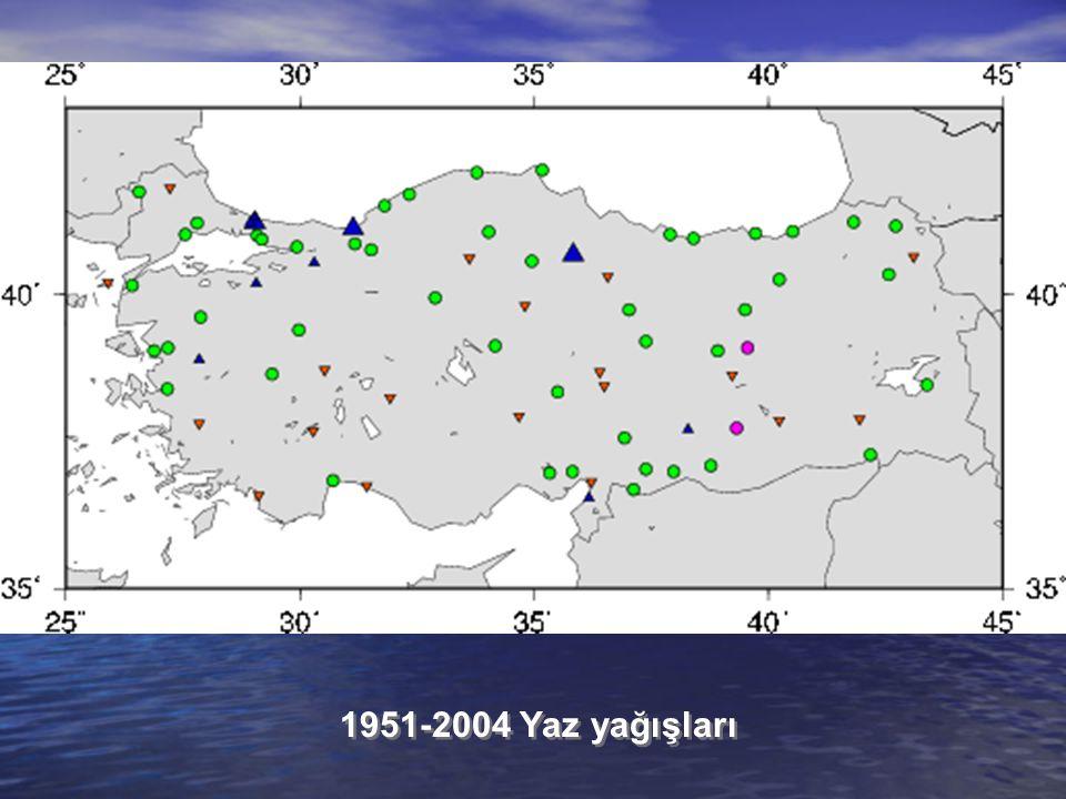1951-2004 Yaz yağışları