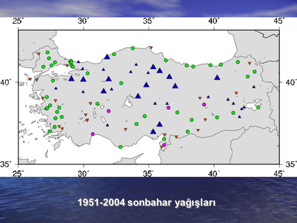 1951-2004 sonbahar yağışları