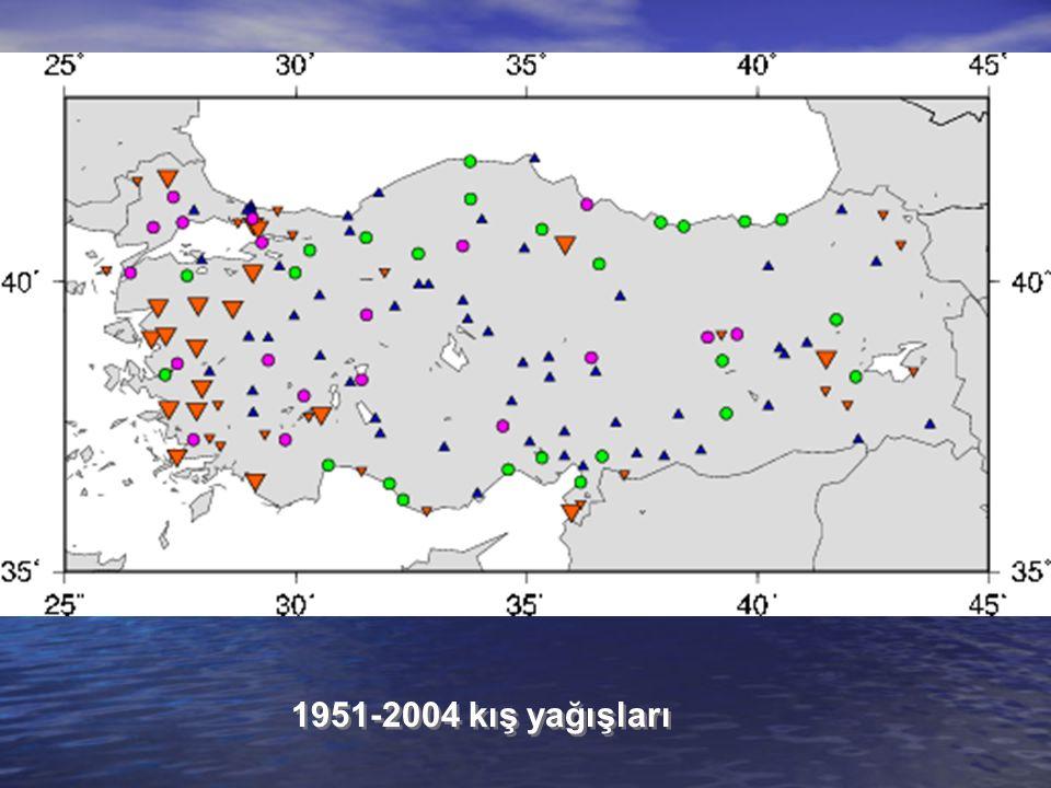 1951-2004 kış yağışları