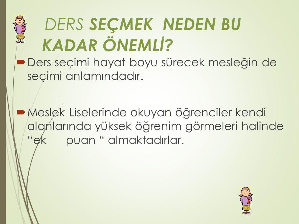 DERS SEÇMEK NEDEN BU KADAR ÖNEMLİ.