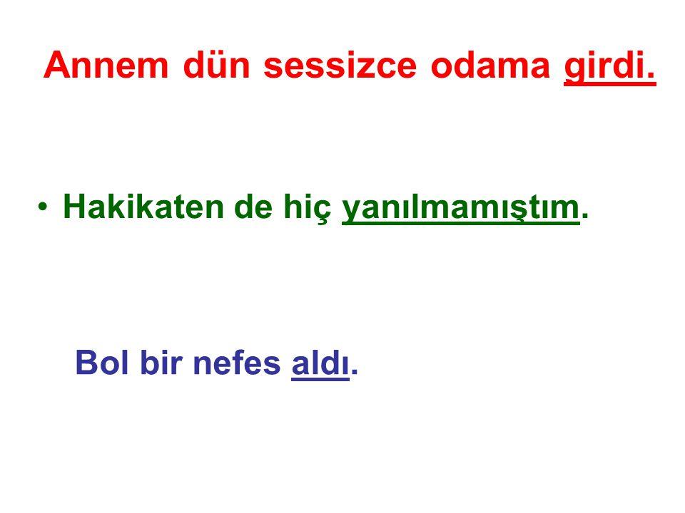 1. Fiil Cümlesi:Fiil Yüklemi çekimli bir fiil olan cümlelerdir. Türkçede (başka dillerde de) fiil cümlesi isim cümlesinden daha çok kullanılır.