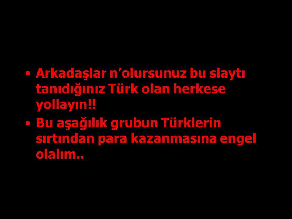 Arkadaşlar n'olursunuz bu slaytı tanıdığınız Türk olan herkese yollayın!.