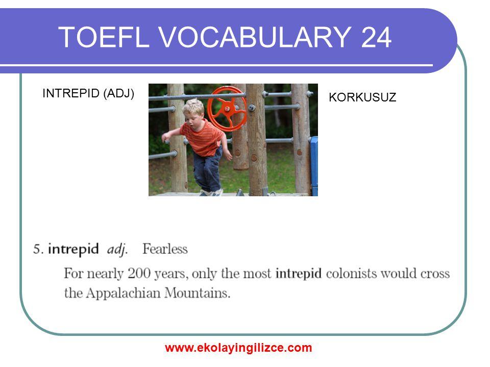 www.ekolayingilizce.com TOEFL VOCABULARY 24 MERCHANT (N) TÜCCAR
