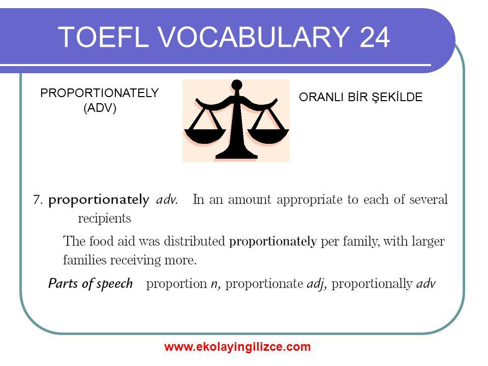 www.ekolayingilizce.com TOEFL VOCABULARY 24 PROTOTYPE (N) PROTOTİP