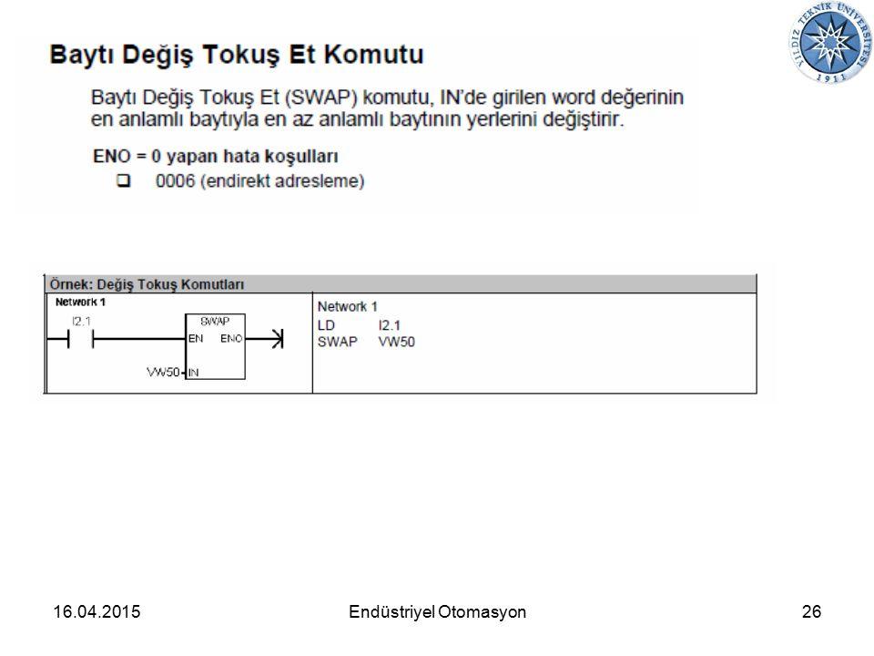 16.04.201526Endüstriyel Otomasyon