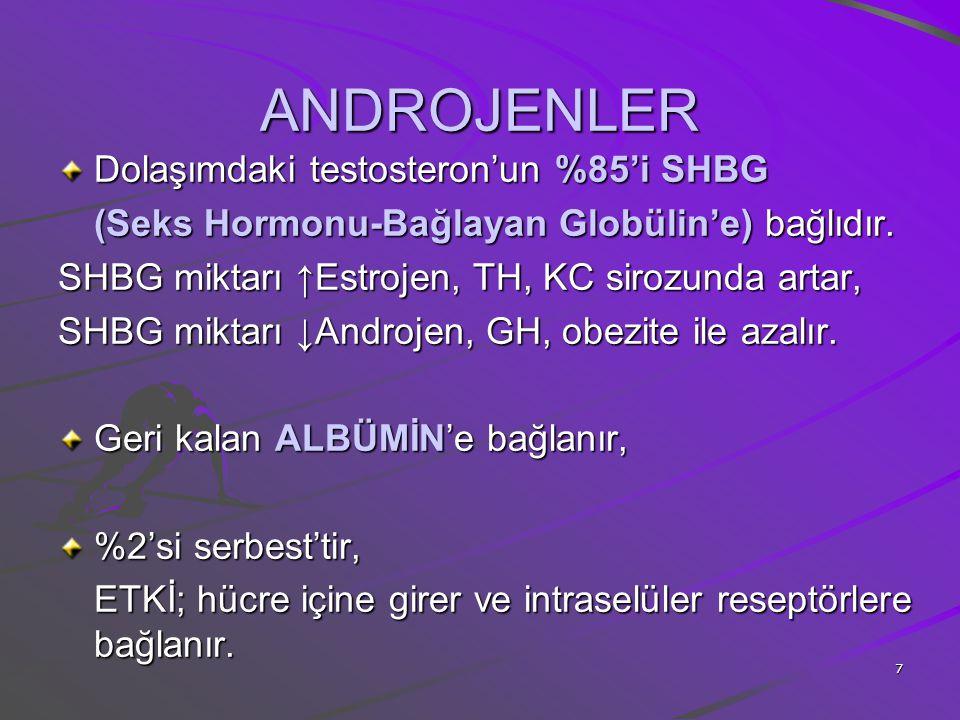 8 ANDROJENLER HEDEF HÜCRELERDE T.