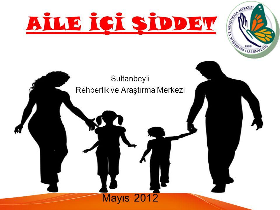 AİLE İÇİ ŞİDDET Sultanbeyli Rehberlik ve Araştırma Merkezi Mayıs 2012