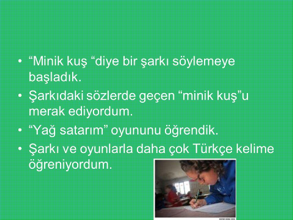 Evde kardeşlerim de benimle Türkçe konuşmaya başladı.