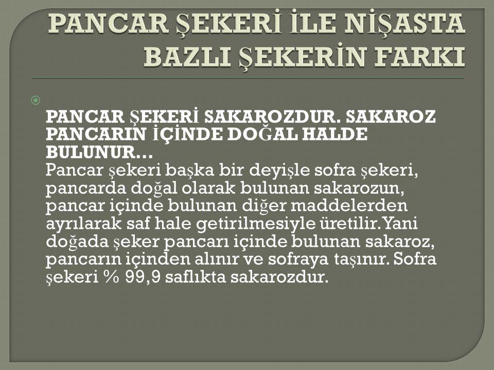  PANCAR Ş EKER İ SAKAROZDUR.