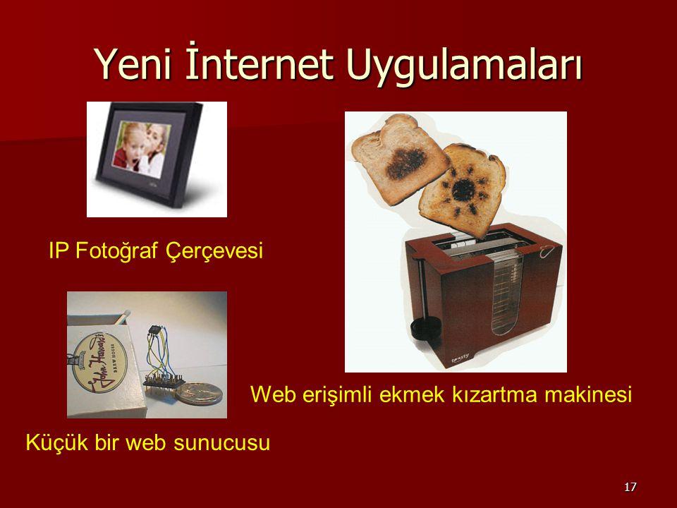 17 Yeni İnternet Uygulamaları IP Fotoğraf Çerçevesi Web erişimli ekmek kızartma makinesi Küçük bir web sunucusu