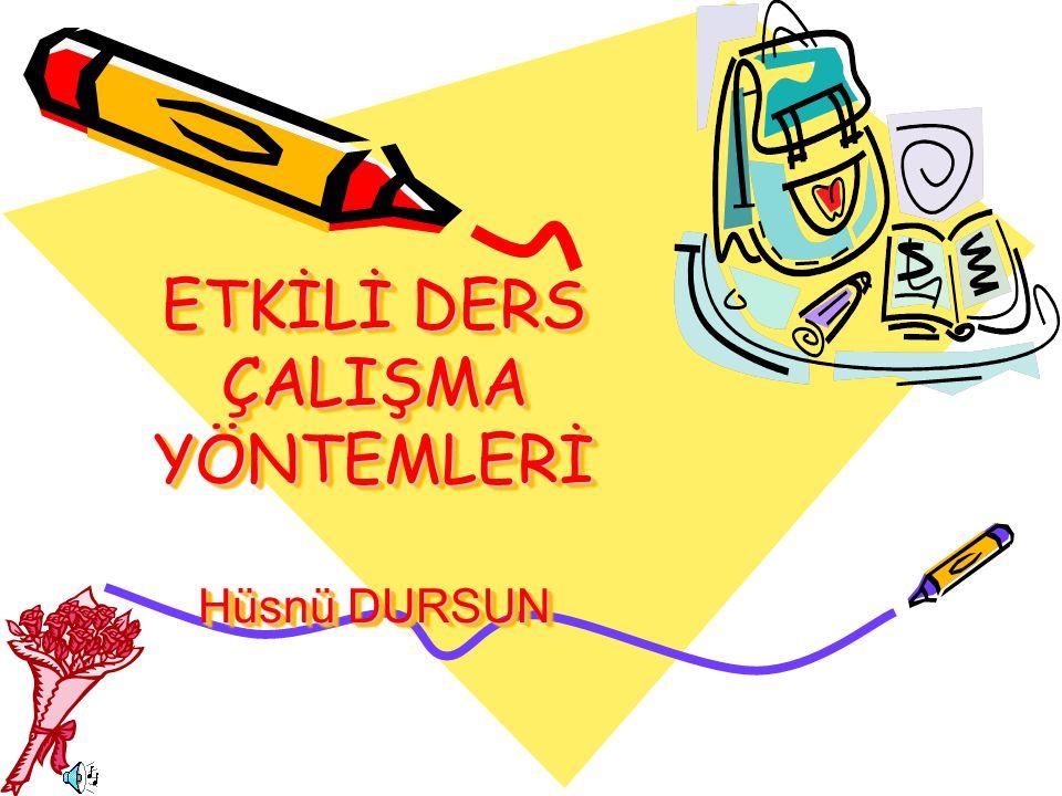 Hazırlaya n Hüsnü DURSUN Hüsnü DURSUN Hendek Anadolu İHL Rehber Öğretmeni