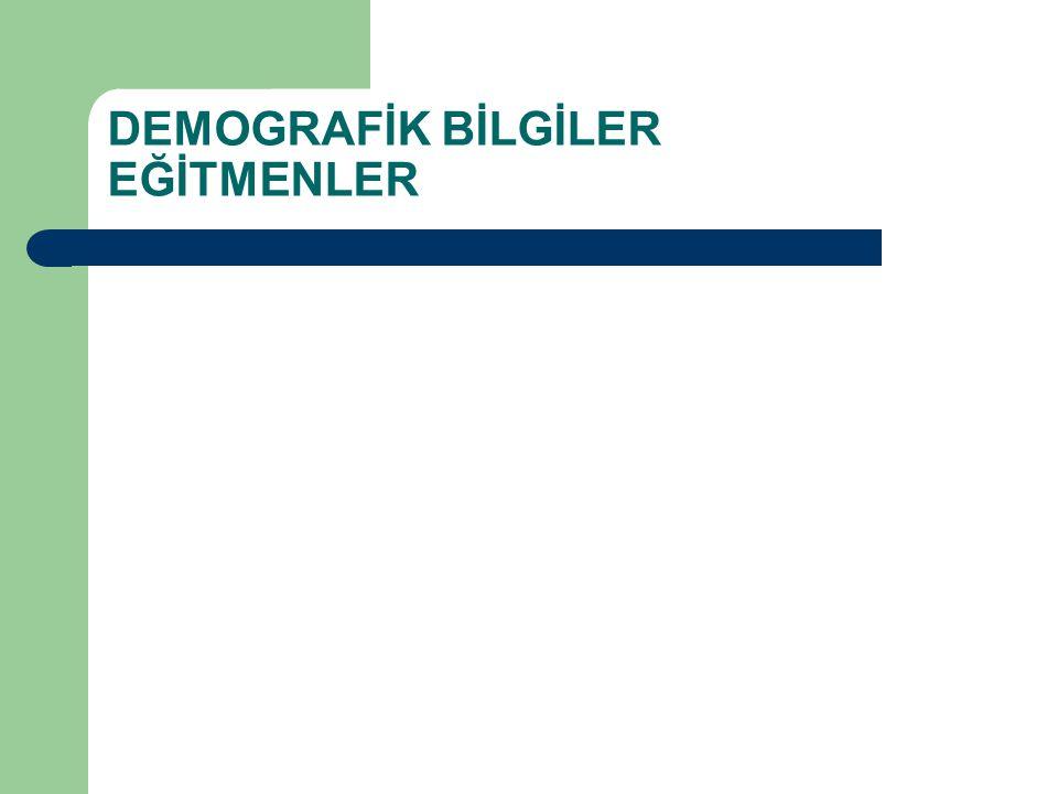 DEMOGRAFİK BİLGİLER EĞİTMENLER