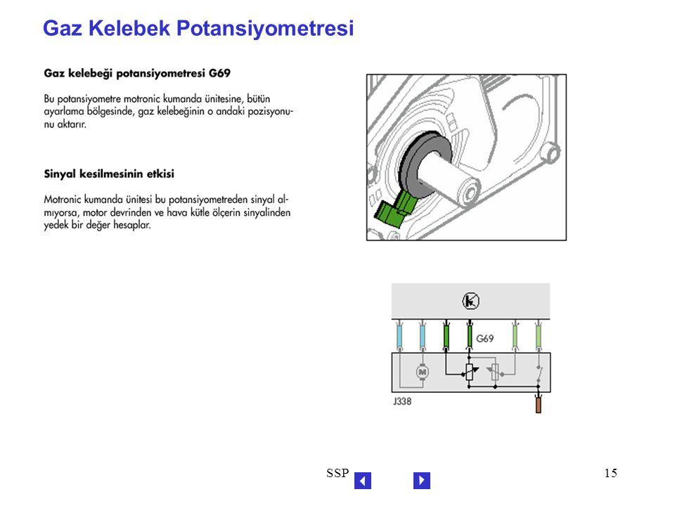 SSP15 Gaz Kelebek Potansiyometresi