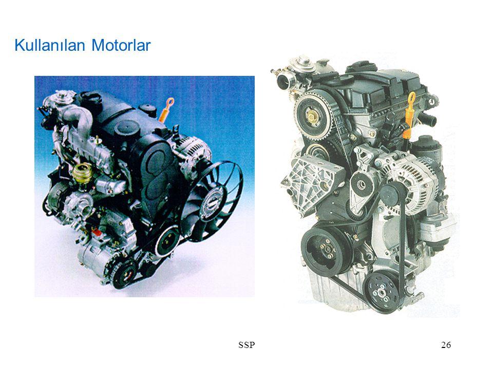 SSP26 Kullanılan Motorlar