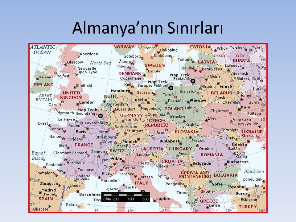 Almanya'nın Yer Şekilleri Kuzey kesiminde ovalar, orta kesiminde dağlar, güney kesiminde de platolar ve dağlar bulunur.