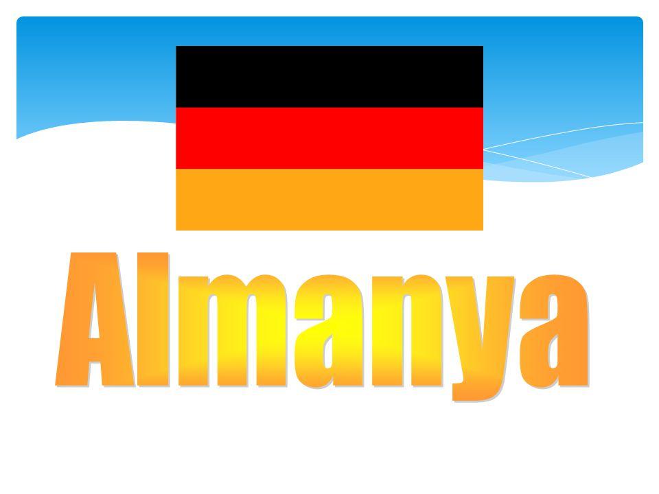 Almanya  Yüz ölçümü:357.000 km 2  Nüfusu:83.029.536  İdare şekli:Cumhuriyet  Başkenti:Berlin  Önemli şehirleri :Hamburg, Münih, Köln, Essen, Frankfurt  Dili:Almanca  Dini:Hıristiyanlık  Para birimi:Euro Bayrak Arma Konumu