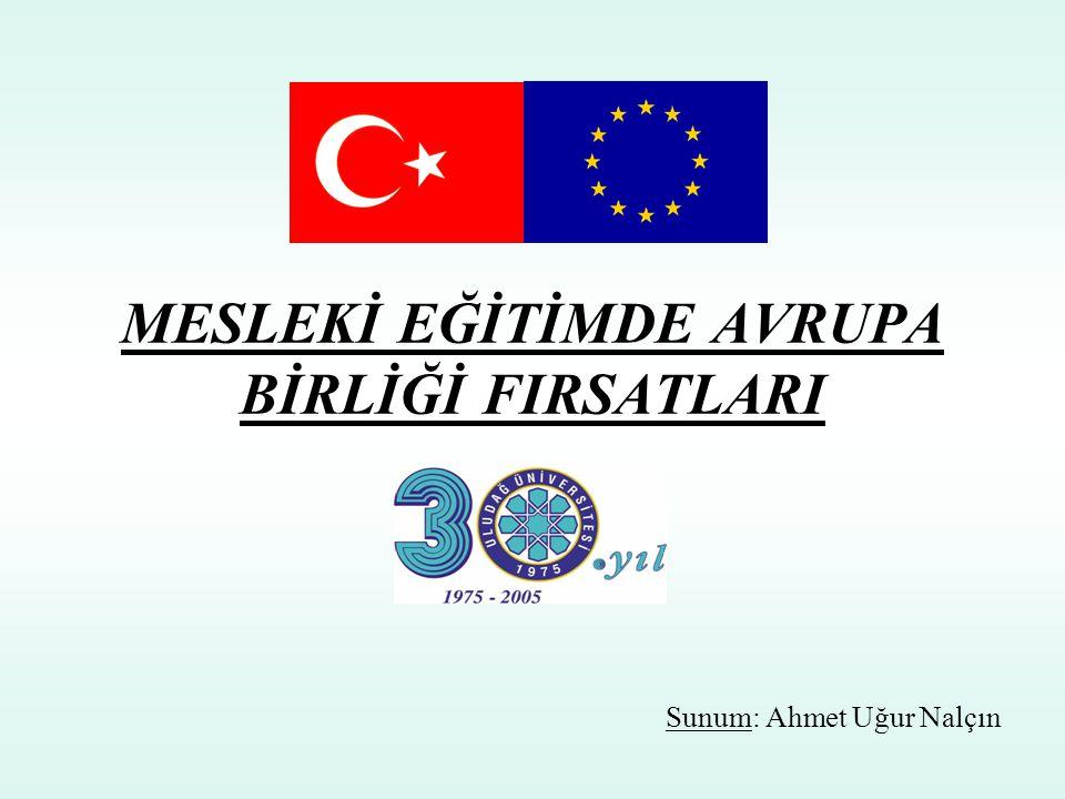 MESLEKİ EĞİTİMDE AVRUPA BİRLİĞİ FIRSATLARI Sunum: Ahmet Uğur Nalçın