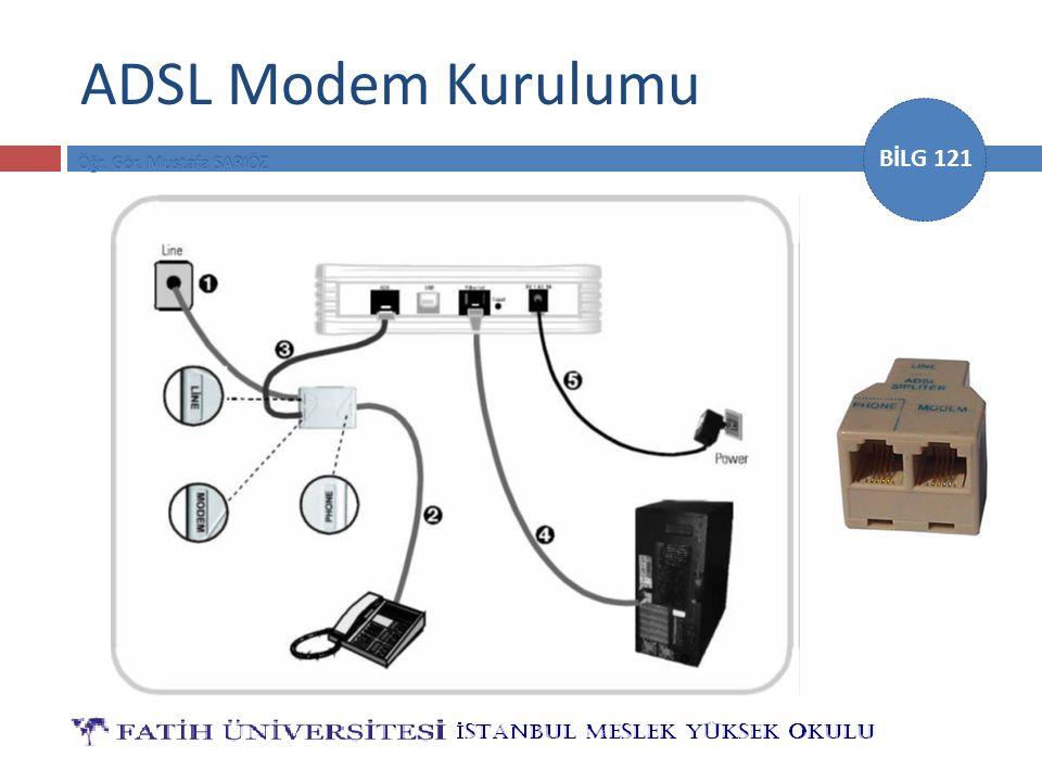 BİLG 121 ADSL Modem Kurulumu