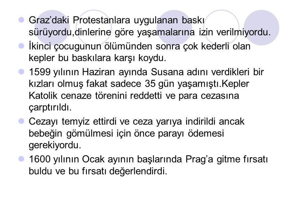 Graz'daki Protestanlara uygulanan baskı sürüyordu,dinlerine göre yaşamalarına izin verilmiyordu. İkinci çocugunun ölümünden sonra çok kederli olan kep