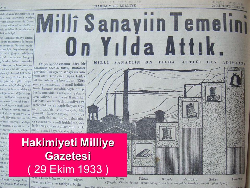 29 Ekim 1933 TÜRKİYE CUMHURİYETİ 10 YAŞINDA