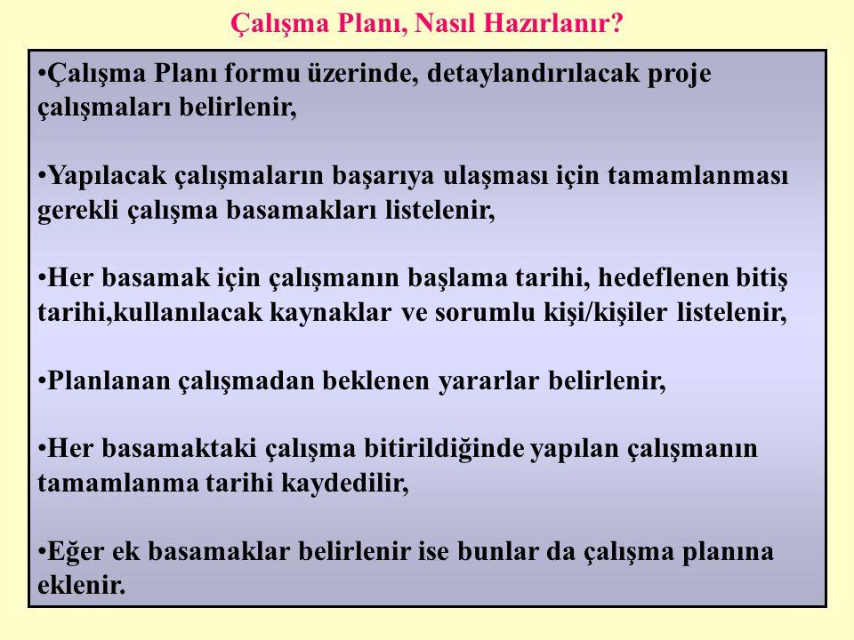 16.04.2015Dr. CELAL GÜLŞEN24 Çalışma Planları Hazırlama Çalışma Planı: Herhangi bir proje veya çalışmada belirlenen hedeflere ulaşmak için yapılacak ç