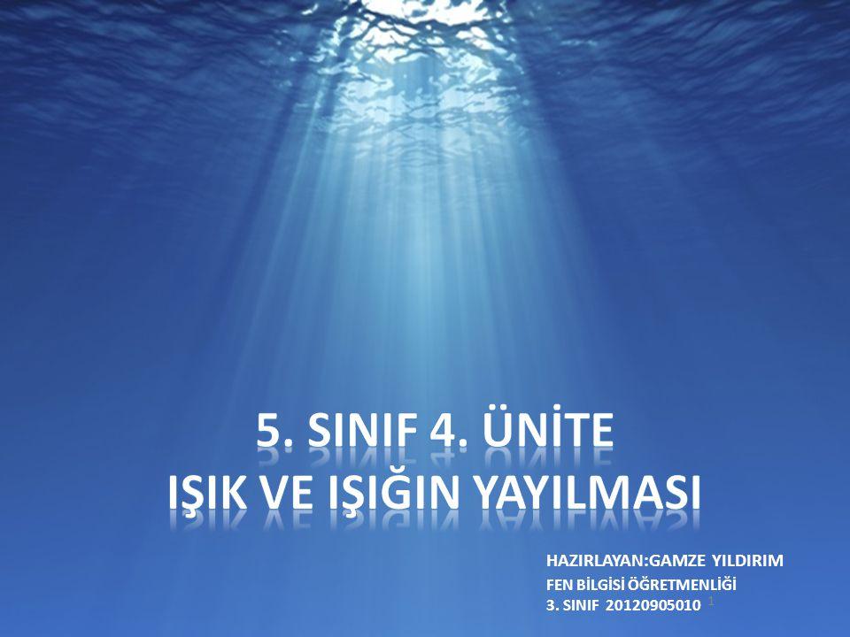 HAZIRLAYAN:GAMZE YILDIRIM 1 FEN BİLGİSİ ÖĞRETMENLİĞİ 3. SINIF 20120905010