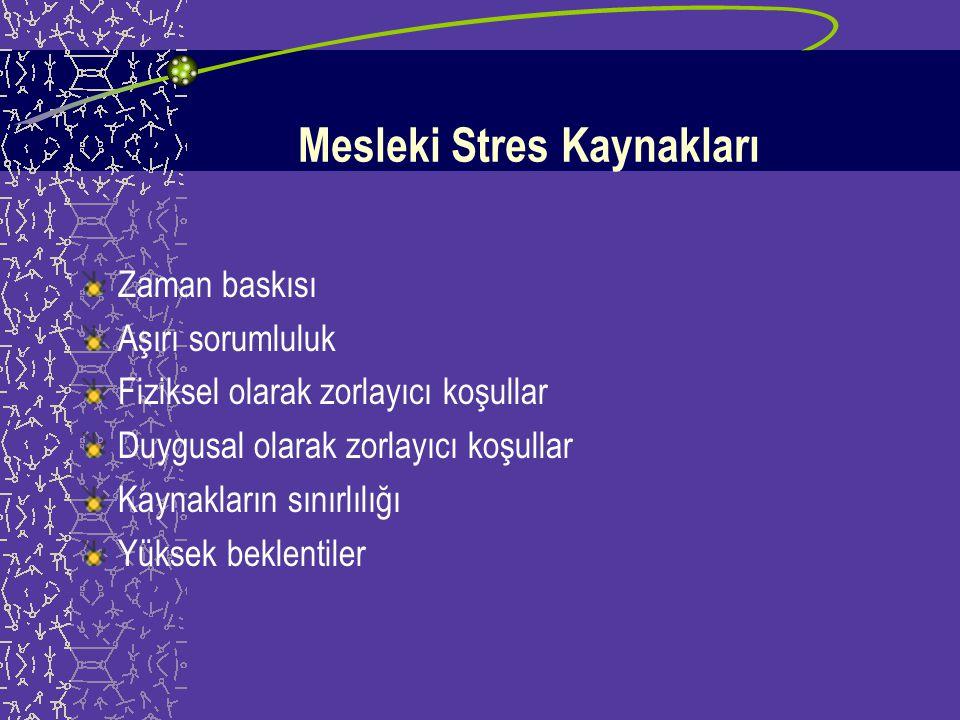 Olaya Bağlı Stres Kaynakları Kurtarma çalışmaları sırasında bir iş arkadaşının ölümüne ya da yaralanmasına tanık olmak Bir çocuğun ya da yetişkinin öl