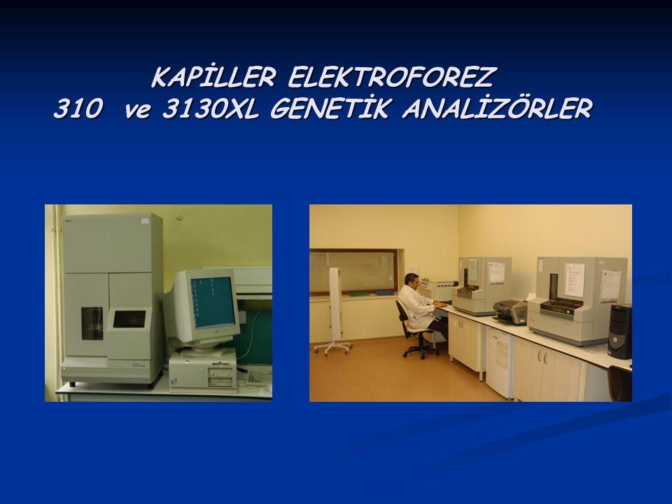 KAPİLLER ELEKTROFOREZ 310 ve 3130XL GENETİK ANALİZÖRLER