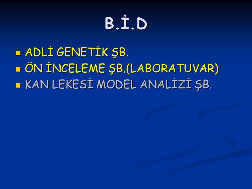 B.İ.D ADLİ GENETİK ŞB.ADLİ GENETİK ŞB.