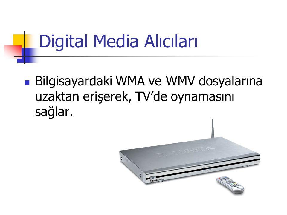 Digital Media Alıcıları Bilgisayardaki WMA ve WMV dosyalarına uzaktan erişerek, TV'de oynamasını sağlar.