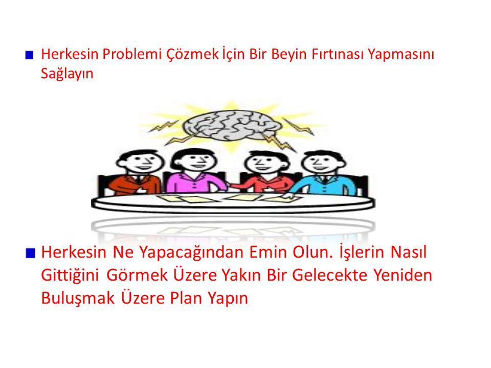 Herkesin Problemi Çözmek İçin Bir Beyin Fırtınası Yapmasını Sağlayın Herkesin Ne Yapacağından Emin Olun.