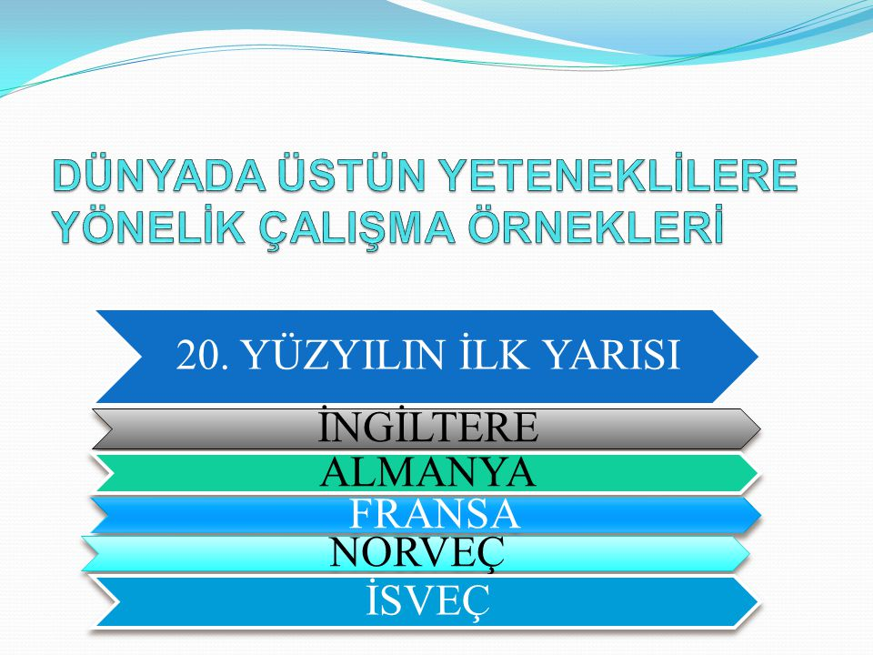 Fen Liseleri 1962 yılındaki Milli Eğitim Şurasında alınan karar doğrultusunda üstün yetenekli çocukların yetiştirilmesi amacıyla 1964 yılında Ankara Fen Lisesi'nin kurulması; Ülkemizde Eylül 2010 itibariyle 96 Fen Lisesi, 23.203 Öğrencisi bulunmaktadır)