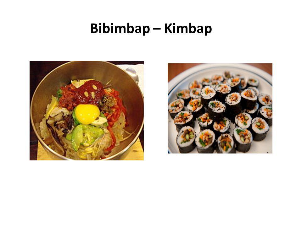 Bibimbap – Kimbap