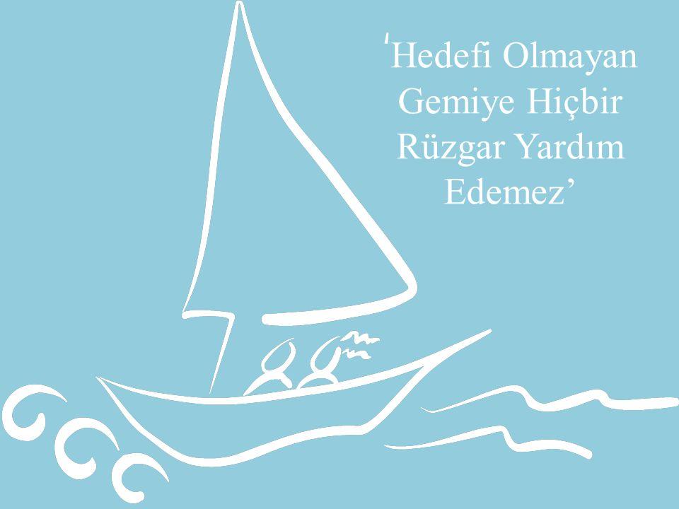 38 ' Hedefi Olmayan Gemiye Hiçbir Rüzgar Yardım Edemez'