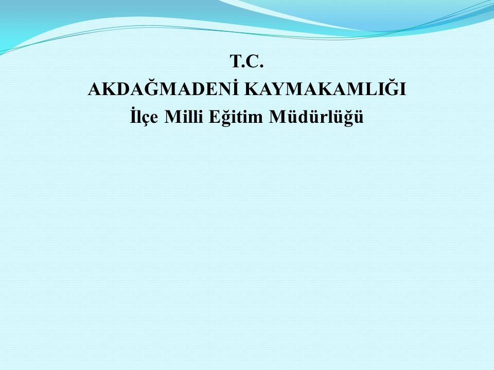 T.C. AKDAĞMADENİ KAYMAKAMLIĞI İlçe Milli Eğitim Müdürlüğü